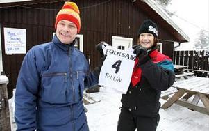 Olle Norling vann 1978 års skidmodetävling och vann en hotellvistelse av Maria Käll, marknadsförare på Bjursås SkiCenter.FOTO: BONS NISSE ANDERSSON