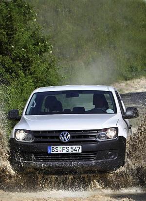 Amarok tillverkas i Argentina och är Volkswagens comeback i den mellanstora pickup-klassen. Lastar 870 kilo och får dra 2,8 ton.Foto: Ashim Hartmann