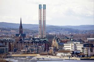 Skyskrapan kommer att förändra vyn över Sundsvall.