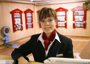 Anneli Gustafsson, stationsansvarig på Härjedalen Sveg Airport, säger att många kunder är oroliga och undrar om det verkligen lyfter något plan från Sveg.