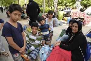Flyktingar i Grekland.
