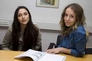 Vem väljer vad? Beatrice Westerberg och Sofie Eliasson har som projektarbete tagit reda på om personers bakgrund och familj spelar roll när man väljer gymnasielinje.