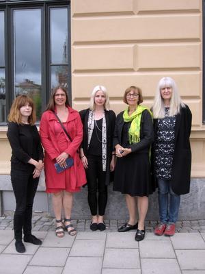 Josefin Östberg Olsson, Anna Norvell, Anna Glantz, Birgitta Samuelsson och Ulla-Carin Winter.