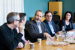 Peder Johnson och Lennart Schuss från Gimmel träffade Faxeholmens ledning för att göra klart affären 2015.