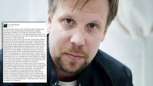 Filip Hammars Facebook-inlägg om Patrik Andersson.    Foto: Skärmdump/Facebook