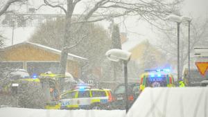 Trafikolycka i centrala Kungsör i dag.