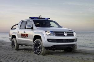 Volkswagen Amarok blir en klassisk offroad-pickup med ett namn som ska locka köpare med vildmarksintresse.Foto: VolkswageN
