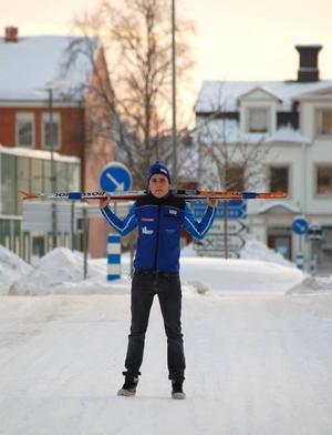 """""""Det långsiktiga målet är väl att komma till landslaget"""", säger strömsundsbon Rasmus Hörnfeldt.  Foto: Jonas Ottosson"""