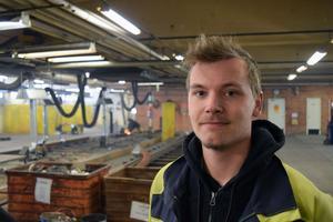 Fredrik Palmér räknar iskallt med att få jobb efter utbildningen.