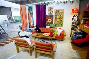 Gittan ville visa ett rum från när hon var ung och gjorde ett med inspiration av 60-talet.