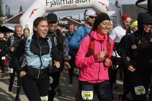 Vemdalens fjällmaraton, start för de som sprang 11 kilometer.