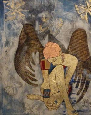 Målning av Jelena Kimsdotter.