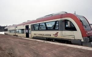 Trafikverket vill lägga ned persontrafiken  på Västerdalsbanan.FOTO:LEIF OLSSON