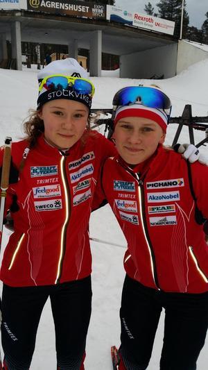 Alicia Persson och Fanny Johansson.