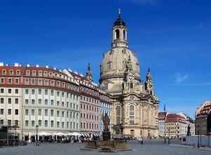 Den återuppbyggda Frauenkirche i Dresden stod färdig 2005.