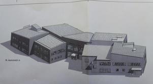 Nya Marnässkolan kommer att huvudingången vid Grågåsvägen. Bygget tros gå på runt 110 miljoner.