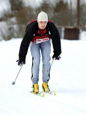 Lätt. Erik Söderberg från Falun tyckte att det gick lättare än han hade trott att åka skidor från Falun till Borlänge.