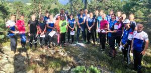 Forsa OK är största hälsingeklubb på O-Ringen med 52 deltagare. I veckan slipade man formen med en träningsorientering påberghällarna i Sunnanbäck.