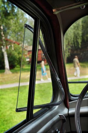 Det var varmt i lördags, men även gamla bilar hade luftkonditionering.