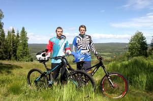 Tim Hedman och Hampus Jonsson tillhör Sverige-eliten i downhill.