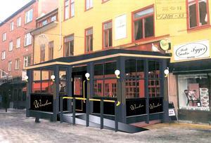 Så här ville Sir Winston att en inglasad veranda på restaurangen skulle se ut – men så blir det inte. Länsstyrelsen säger nej till planerna.