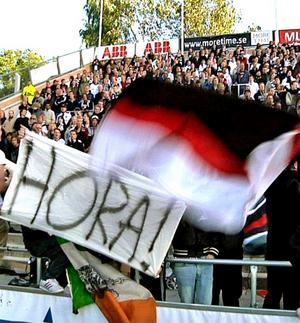Anmäld banderoll från matchen IFK Norrköping-ÖSK.