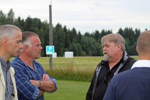 Anders Törnqvist från Högskolan Dalarna och Ulf Runesson diskuterade bland annat om ett framtida samarbete.