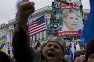 Protesterna tilltar i Ukrainas huvudstad Kiev.