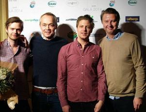 Glada pristagare är från vänster: Kalle Nilsson, Patrik Jonsson, Joakim Almqvist och Sonny Gustavsson, samtliga Ölbaren.