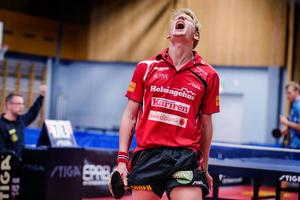 Så här arg var Hampus Nordberg när Suif förlorade mot Rekord i höstas. Nu vill han och lagkamraterna ta revansch.