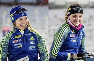 Anna Magnusson (t.v.) och Linn Persson är Sveriges två nästa storstjärnor i skidskytte, i alla fall enligt Wolfgang Pichler.