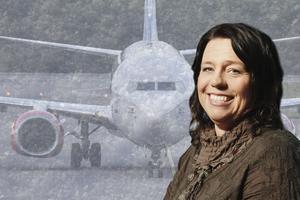 Susanne Norrman, flygplatschef på Åre Östersund Airport.