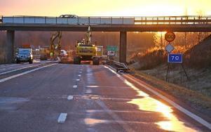 Den här synen mötte trafikanterna på fredagsmorgonen. Foto: Johnny Fredborg