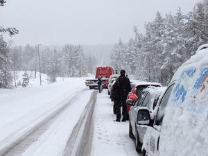 Länsväg 293 utanför Falun.