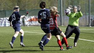 Lina Fredin var vass framåt när Team Hudim besegrade Remsle med 2–1.