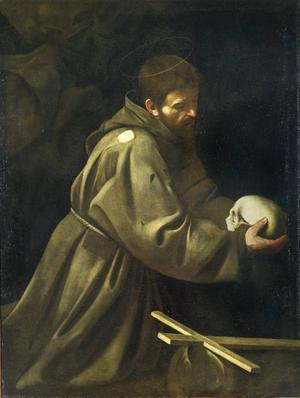 """Den helige Franciskus"", olja på duk av Michelangelo Merisi da Caravaggio, hänger till vardags på Galleria Nazionale i Rom."