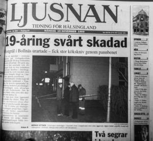 Ljusnan rapporterade om den makabra händelsen.