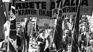 Så här såg det ut i Västerås 1 maj 1974.