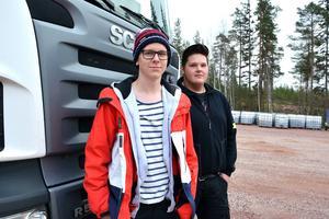 Rasmus Larsson och Edvin Sandén tävlade i Östersund.