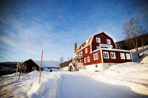 Fjällgården i Jormlien är ett klassiskt pensionat, mitt i vinterland.