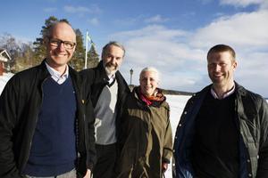 De nya ägarna till Frösö handtryck. Från vänster: Peter Filén, Ulf Källberg, Katarina Hamilton och Pär Lundin.
