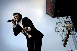 Timbuktus jubileumskonsert på Hovet i Stockholm kan ses live i Kilafors. Här spelar han på Borlänges Peace and Love-festival i somras.