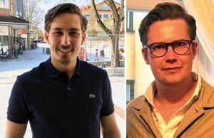 Eric Runbäck och Hampus Nilsson jublar över Djurgårdens flytt hem till Östermalm. (Bilden är ett montage)