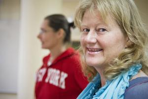 Att så många valt att studera vård och omsorg glädjer rektorn Anna-Karin Zachrisson Larsson.