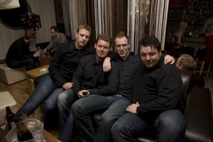 Tabazco Micke, Anders, Rodin och Bartosz.