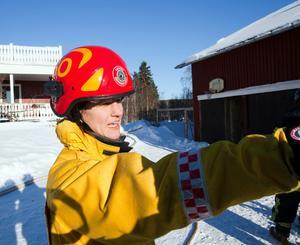 Sofia Haglund, räddningstjänstens insatsledare, tyckte att det var skönt att varken djur eller människor kom till skada i samband med en brand i en ladugård på Langbergsvägen i Ockelbo på lördagen.