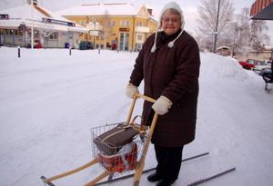 – Allt är klart. Jag åker ner till Södertälje och firar jul, säger Rut Norling från Sveg.