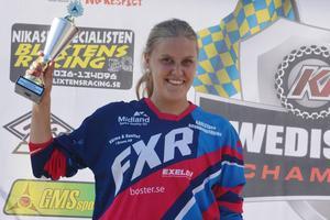 Amanda Elvin från Bollnäs slutade tvåa respektive trea i damklassen.