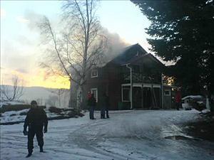 Villan blev snabbt övertänd och kunde inte räddas.