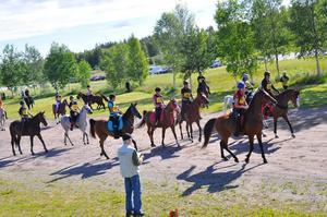 Ett 60-tal ekipage tävlade i distansritt i Laxå på lördagen.